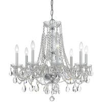 Crystorama Traditional Crystal Collection 8-light Polished Chrome/Swarovski Elements Spectra Crystal Chandeli