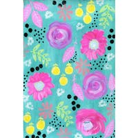 Marmont Hill - 'Pink Flowers' by Jill Lambert Painting Print on Wrapped Canvas - Pink