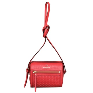Kate Spade Perri Lane Empire Red Bubbles Looloo Crossbody Handbag