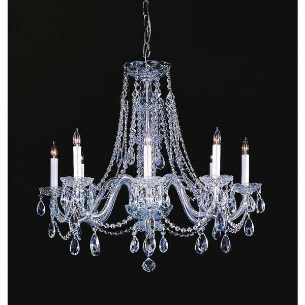 Crystorama Traditional Crystal Collection 8 Light Polished Chrome Chandelier