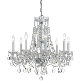 Crystorama Traditional Crystal Collection 8-light Polished Chrome/Crystal Chandelier