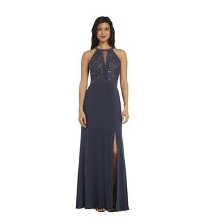 Nightway Long Lace Dress