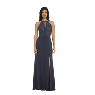 Nightway Long Lace Dress