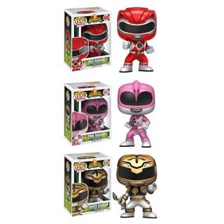 Funko TV Power Rangers POP! Collectors Set with Red Ranger, Pink Ranger, White Ranger