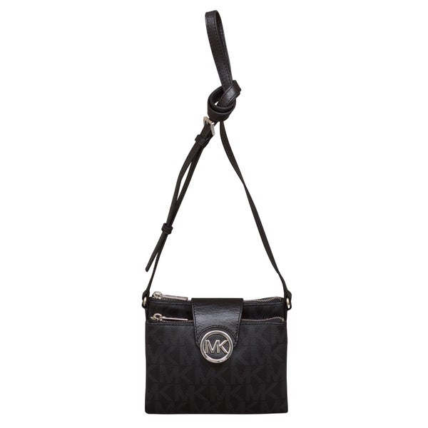 af263bb34943 Shop Michael Kors Large Fulton Black Crossbody Handbag - Free Shipping  Today - Overstock - 13915513