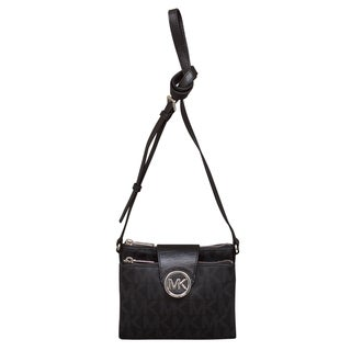 Michael Kors Large Fulton Black Crossbody Handbag