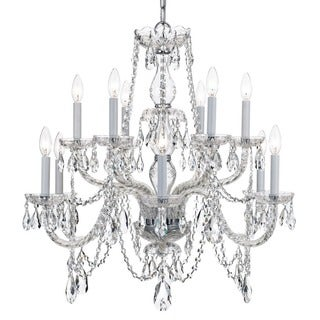 Crystorama Traditional Crystal Collection 12-light Polished Chrome/Crystal Chandelier