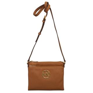 Michael Kors Large Fulton Luggage Brown Crossbody Handbag