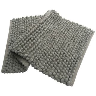 Plush Solid Pebbles 21x34 Bath Rug