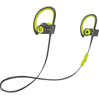 Refurbished Beats by Dr. Dre Powerbeats2 Yellow Wireless Earbud Headphones