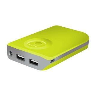 Xtreme Neon Yellow/Green 5200mAh Dual-USB Port Power Bank