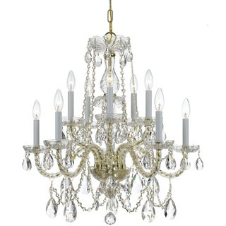 Crystorama Traditional Crystal Collection 10-light Polished Brass/Crystal Chandelier