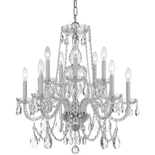 Crystorama Traditional Crystal Collection 10-light Polished Chrome/Swarovski Spectra Crystal Chandelier