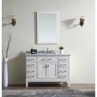 Ari Kitchen And Bath Danny White 48 Inch Single Bathroom Vanity Set