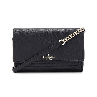 Kate Spade New York Gracie Black Leather Crossbody Handbag