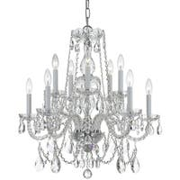 Crystorama Traditional Crystal Collection 10-light Polished Chrome/Crystal Chandelier