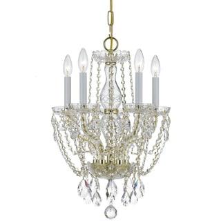 Crystorama Traditional Crystal Collection 5-light Polished Brass/Swarovski Strass Crystal Chandelier