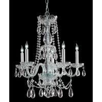 Crystorama Traditional Crystal Collection 5-light Polished Chrome/Swarovski Spectra Crystal Chandelier