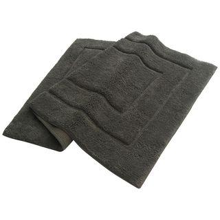 Benzara Classic Platinum Grey Bath Rug (27 Inches x 47 Inches)