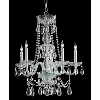Crystorama Traditional Crystal Collection 5-light Polished Chrome/Crystal Chandelier