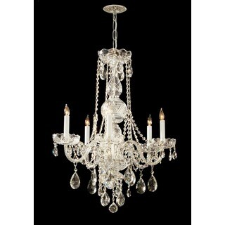 Crystorama Traditional Crystal Collection 5-light Polished Brass/Swarovski Elements Spectra Crystal Chandelie