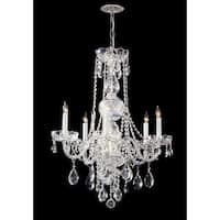 Crystorama Traditional Crystal Collection 5-light Polished Chrome/Swarovski Elements Spectra Crystal Chandeli