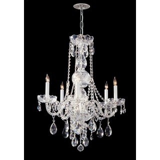 Crystorama Traditional Crystal Collection 5-light Polished Chrome/Swarovski Strass Crystal Chandelier
