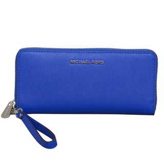Michael Kors Jet Set Travel Electric Blue Continental Wallet