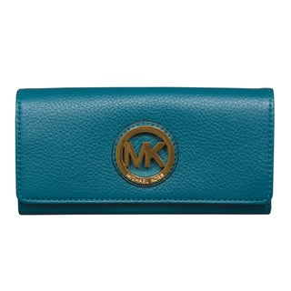 Michael Kors Fulton Flap Deep Teal Continental Wallet