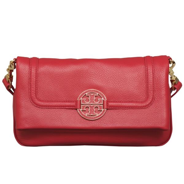 d52d54929a29 Shop Tory Burch Amanda Foldover Crossbody Handbag - Free Shipping Today -  Overstock - 13916244