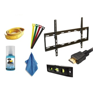 Xtreme 7-piece Ultra-slim Fixed TV Mount Set