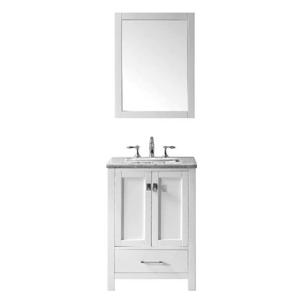 Eviva Aberdeen White Carrera Countertop 24-inch Transitional White Bathroom Vanity