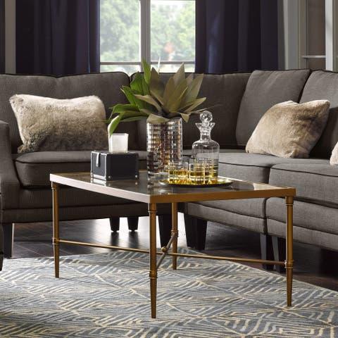 Madison Park Signature Porter Modern Glam Bronze Rectangle Coffee Table