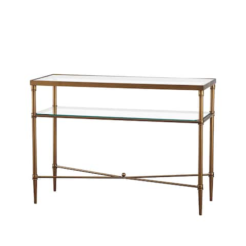 Madison Park Signature Porter Modern Glam Bronze Glass Console Table