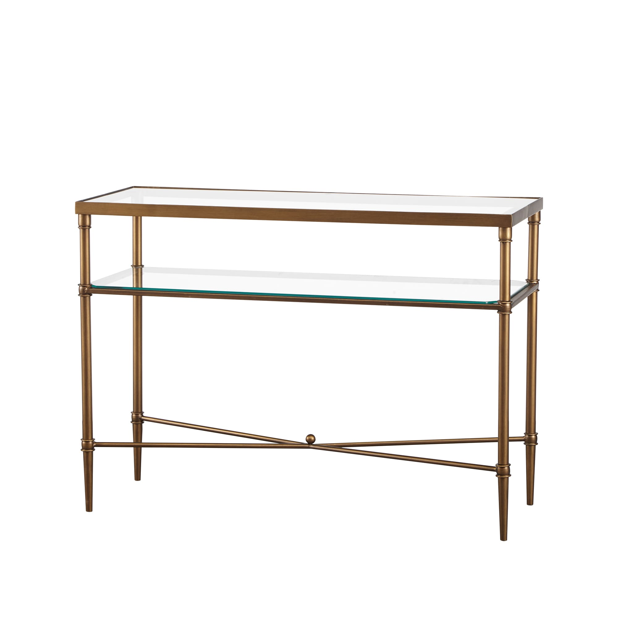 Awe Inspiring Madison Park Signature Porter Modern Glam Bronze Glass Console Table Ncnpc Chair Design For Home Ncnpcorg