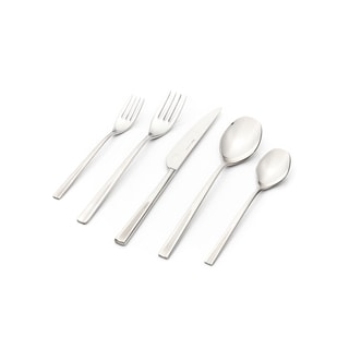 Nova Matte Satin Finish 30-piece Flatware Set with Service for 6 by Hisar