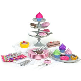 Sophia's 42-Piece 18-inch Doll Dessert Set with Desserts, Serving Plates, Utensils and Trays