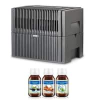 Venta Airwasher LW45G Large Room (Anthracite Gray) 2-in-1 Humidifier and Air Purifier (Relaxing, Citrus & Winter Dream)