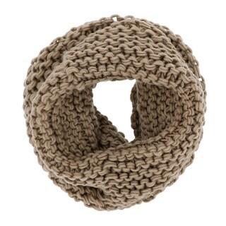 LA77 Khaki Acrylic Knit Tube Scarf