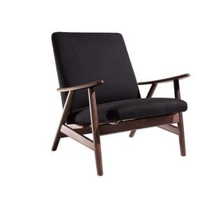 Hans Andersen Home GE-260 Brown/Black Wood Lounge Chair