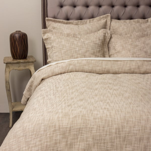 Everette Beige Cotton Duvet Cover