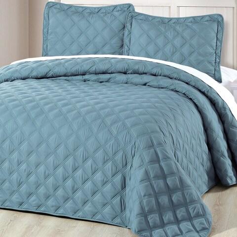 Serenta Down Alternative Quilted Charleston 3 Piece Bedspread Set