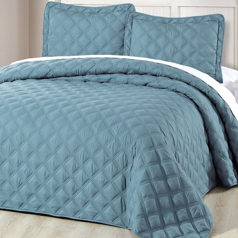 Serenta Down Alternative Quilted Charleston 3 Piece Bedspread Set