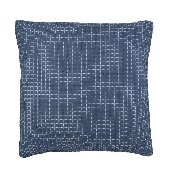 Clayra 26x26 Blue Cotton Euro Sham