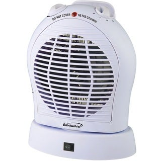 Brentwood White Oscillating Fan Heater