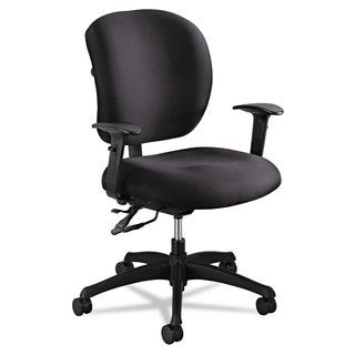 Safco Alday Series Intensive Use Chair 100-percent Polyester Back/100-percent Polyester Seat Black
