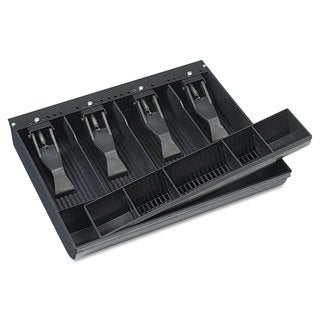 SteelMaster Compact Steel Cash Drawer with Spring-Loaded Bill Weights Disc Tumbler Lock Black