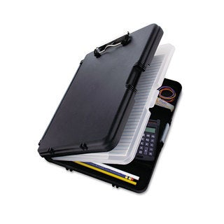 "Saunders WorkMate II Storage Clipboard, 1/2"" Capacity, Holds 8-1/2w x 12h, Black/Charcoal"