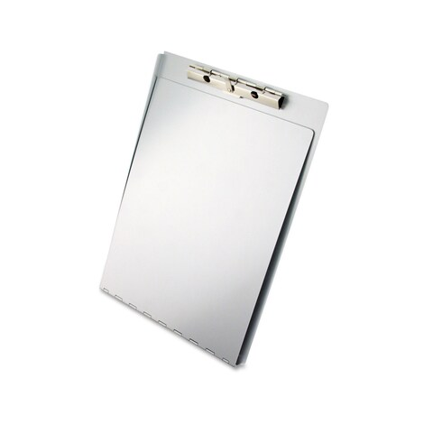 Saunders Aluminum Clipboard with Writing Plate 3/8-inch Clip Capacity 8 1/2 x 12 Sheets Silver