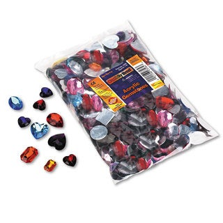 Chenille Kraft Gemstones Classroom Pack Acrylic 1-pound Assorted Colors/Sizes